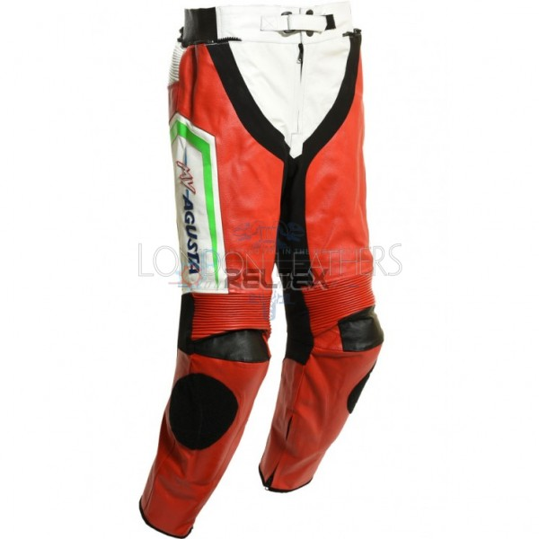 MV Agusta SBK Race Rep Edition Leather Biker Trouser Pants