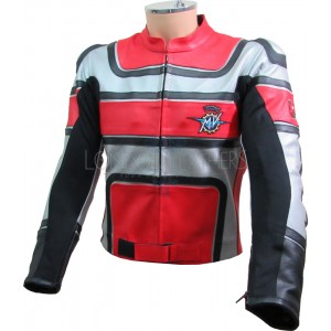 MV Agusta Red Silver Black Armoured Motorcycle Jacket