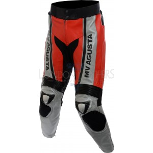 MV Agusta Classic Leather Biker Trouser Pant
