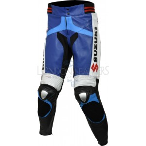 Suzuki GSXR Leather Motorcycle Trouser - 2 Colours