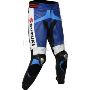 Suzuki GSXR Leather Motorcycle Trouser Pant