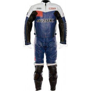 Suzuki Classic Leather Motorcycle Racing Suit