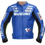 ECSTAR MotoGP SUZUKI Sports Racing Replica Leather Motorcycle Jacket