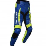 ECSTAR MotoGP Suzuki Sports Racing Replica Leather Motorcycle Trouser