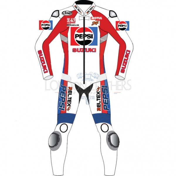 Classic Pepsi SUZUKI Limited Edition Motorcycle Race Leathers