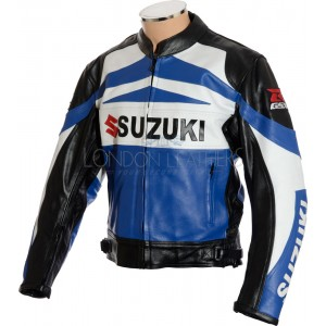 Suzuki GSXR Classic Leather Motorcycle Jacket