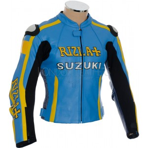 Rizla Suzuki Team MotoGP Motorcycle Jacket with Hump