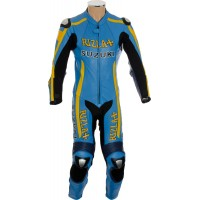 SUZUKI Replica Rizla Blue Motorcycle Leather Suit