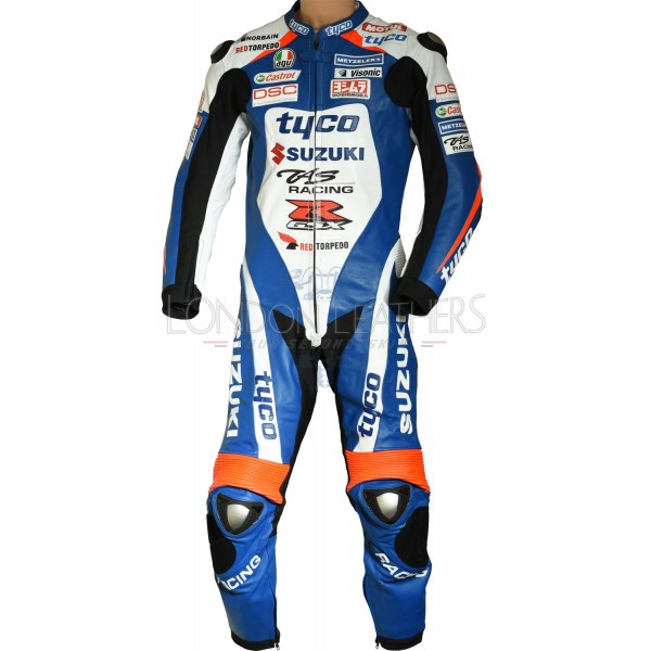 Tyco SUZUKI BSB TT Racing Team Replica Motorcycle Race Leathers Suit