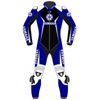 2018 Super Sport Yamaha Blue Motorcycle Leather Suit