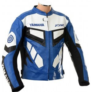 Yamaha FJR Motorcycle Leather Biker Jacket