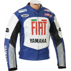 Fiat Yamaha Team MotoGP Leather Motorcycle Jacket