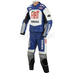 FIAT Yamaha Blue MotoGP Leather Motorcycle Suit