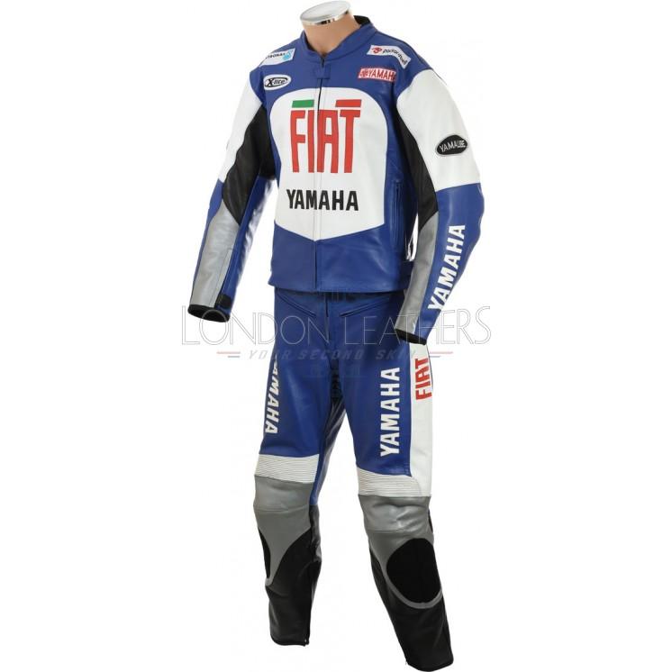 FIAT Yamaha Blue MotoGP Leather Biker Suit