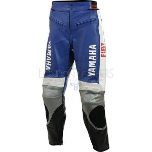 Fiat Yamaha Leather Motorcycle Trouser Pant
