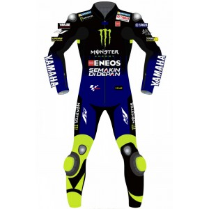 VR46 YAMAHA Monster Energy MotoGP Rossi Replica Biker RACE LEATHERS