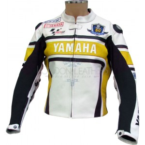 Wgp yamaha 50th anniversary edition r1 leather suit for Yamaha r1 motorcycle jackets
