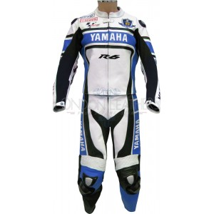 WGP Yamaha R6 50th Anniversary Blue Leathers