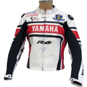 WGP Yamaha R6 50th Special Edition Leather Biker Jacket