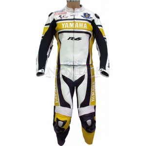 WGP Yamaha R6 50th Anniversary Yellow Leathers