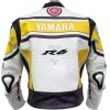 WGP Yamaha R6 50th Yellow Leather Biker Jacket