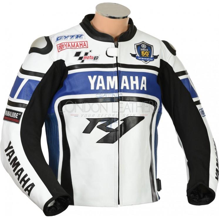 Yamaha r1 wgp blue edition motorcycle jacket for Yamaha r1 motorcycle jackets