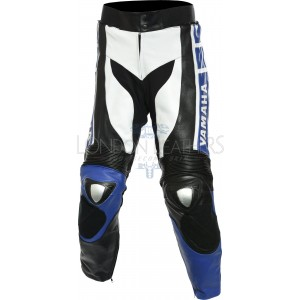 SALE - WGP Anniversary Edition Yamaha Blue Leather Biker Trouser - XL
