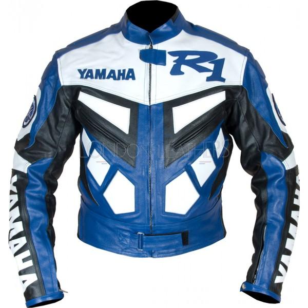 Yamaha yzf r1 premium leather motorcycle jacket for Yamaha r1 motorcycle jackets