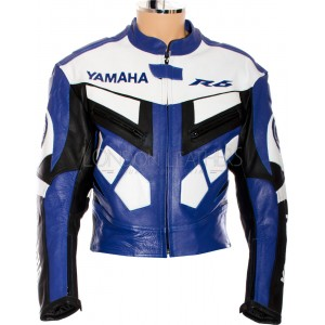 Yamaha Classic Blue R6 Leather Blue Jacket