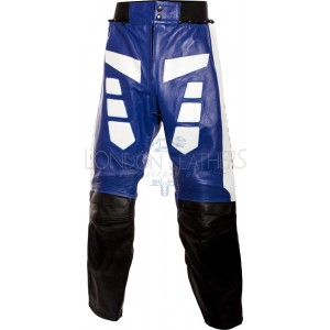 Yamaha Classic Blue R6 Leather Biker Trouser