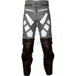 Yamaha Grey Leather Motorcycle Trouser Pant