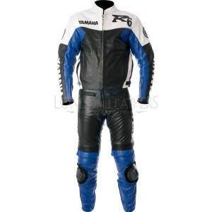 Yamaha R6 Retro Blue Motorbike Leather Suit