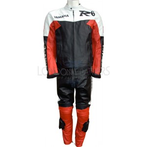 Yamaha R6 Retro Red Motorbike Leather Suit