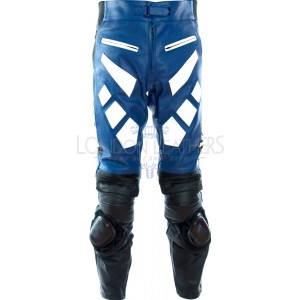 Yamaha Blue Leather Motorcycle Trouser Pant