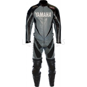 Yamaha Spike Grey Race Motorcyle Leather Suit