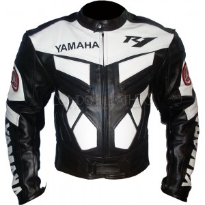 Yamaha R1 Classic Leather Biker Jacket