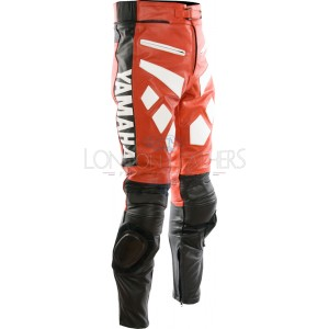 Yamaha Red Leather Motorcycle Trouser Pant