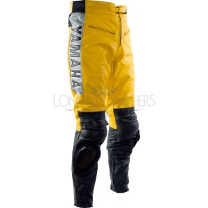 Yamaha Classic Yellow Leather Biker Trouser
