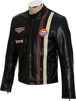Steve McQueen Le-Man Black Leather Jacket